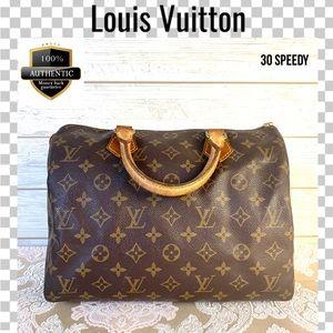 Louis Vuitton satchel bag 30 speedy boston monogra